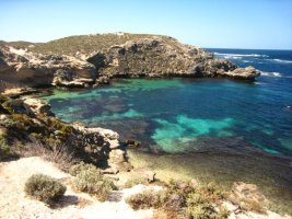 One of Rottnest's many bays